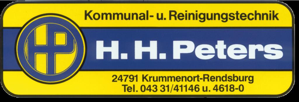 Gelb-Blaus Firmenlogo der Firma H. H. Peters