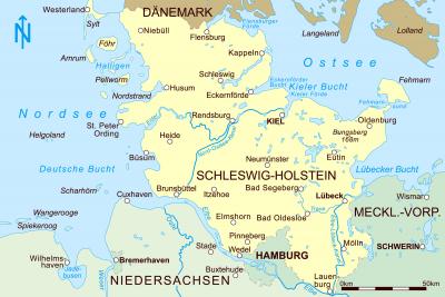 Karte vom Bundesland Schleswig Holstein,Gartengeräte in Ihrer Nähe
